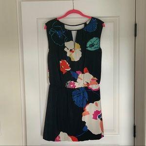 TIBI Floral Print Silk Dress